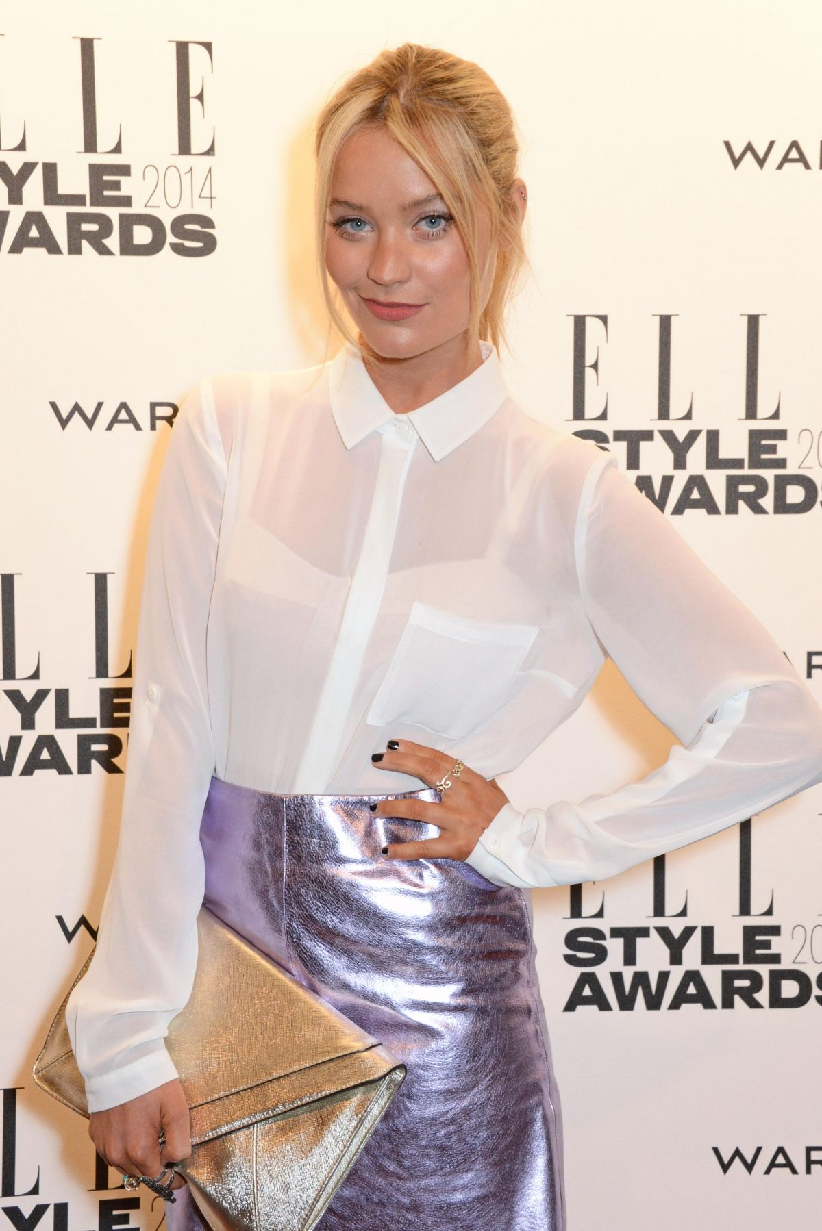 LAURA WHITMORE at 2014 Elle Style Awards in London