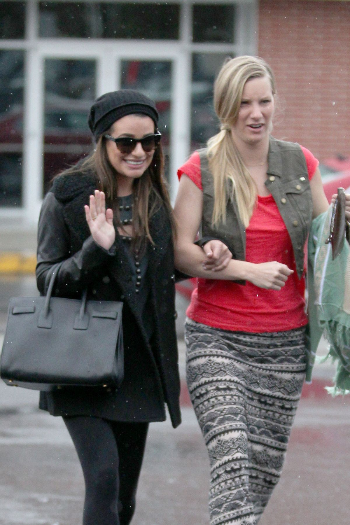 LEA MICHELE and HEATHER MORRIS Out Shopping in West Hollywood