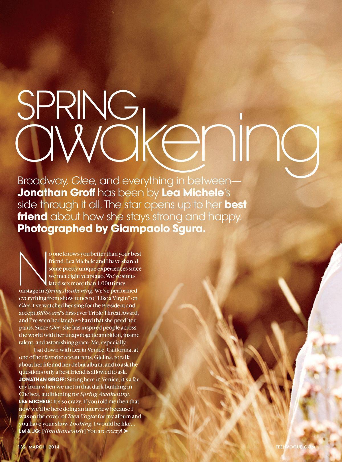 Lea Michele Teen Vogue 2014