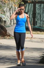 LEA MICHELE Jogging at the Runyon Canyon Park