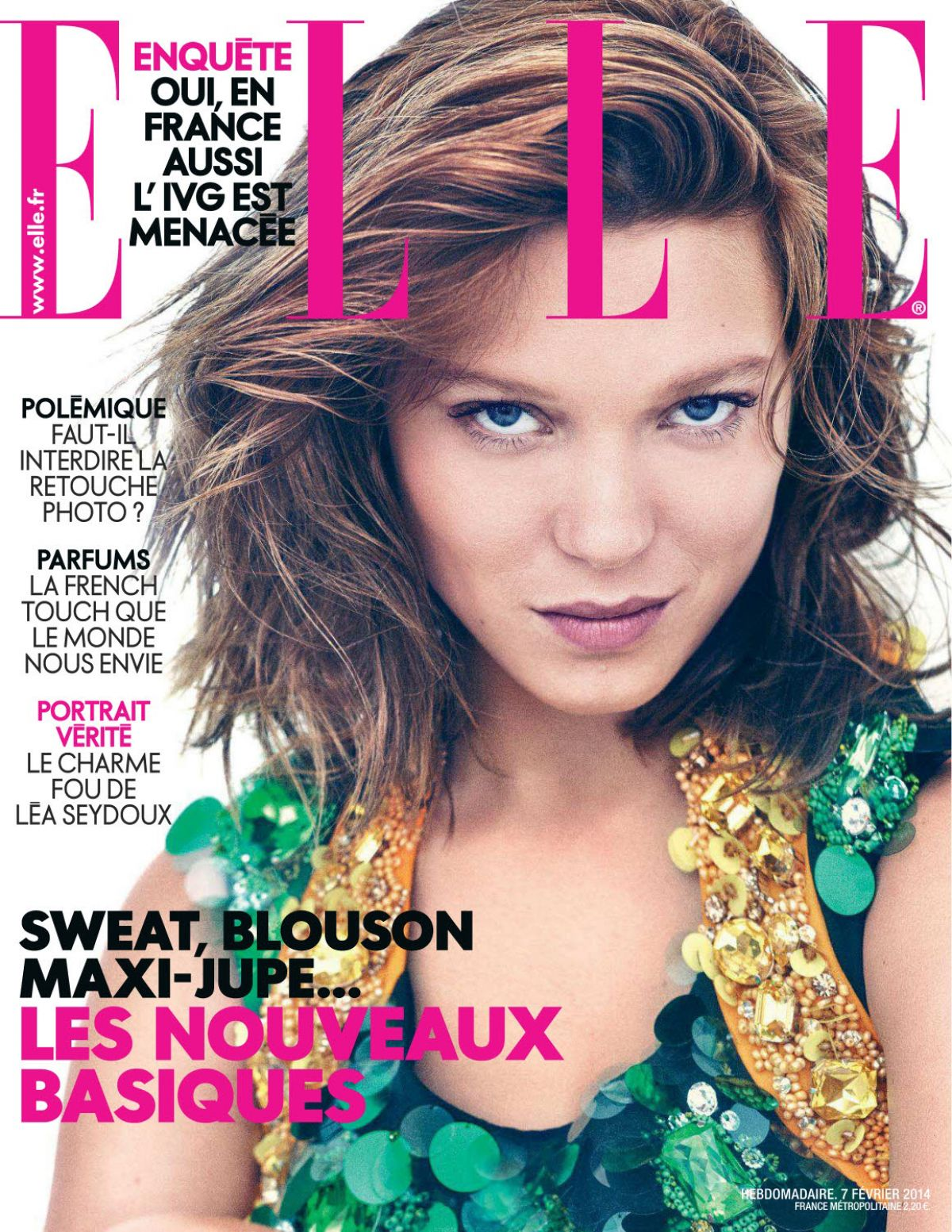 LEA SEYDOUX In Elle Magazine, France February 2014 Issue