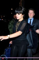 LILY ALLEN Arrives at Esquire Bafta Party