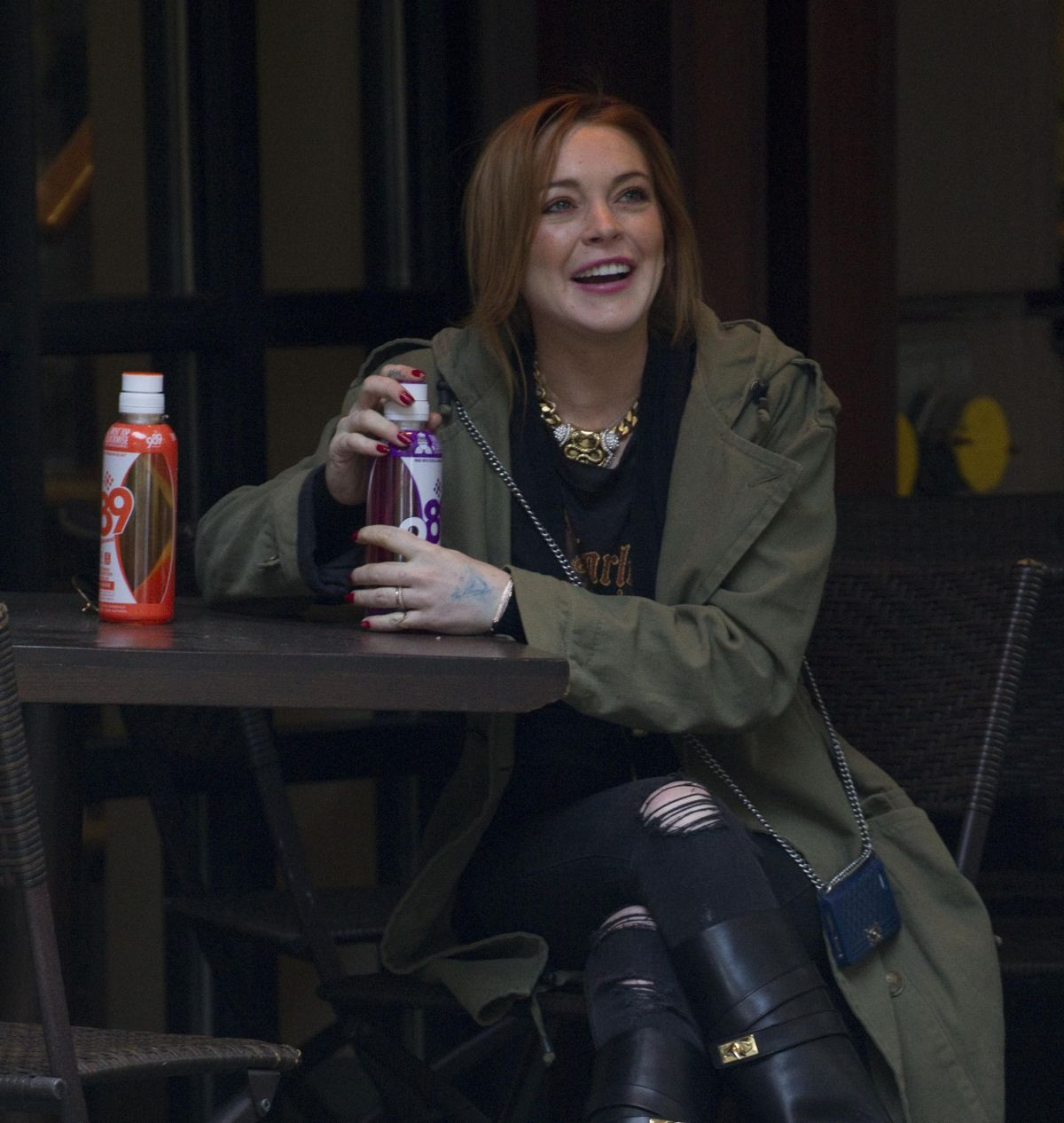 LINDSAY LOHAN at a Hotel in New York