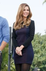 MARIA MENOUNOS on the Set of Extra in Universal City