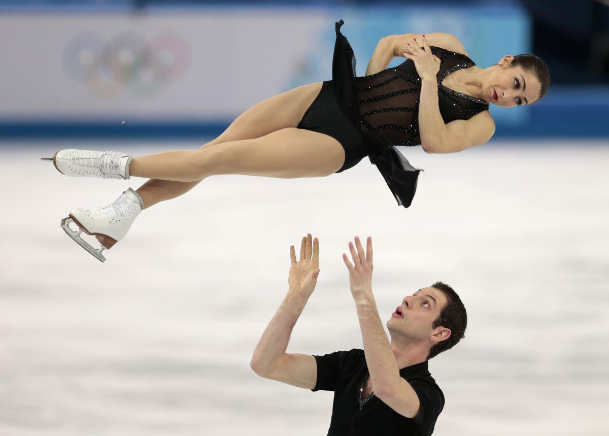 MARISSA CASTELLI and Simon Shnapir at 2014 Winter Olympics in Sochi