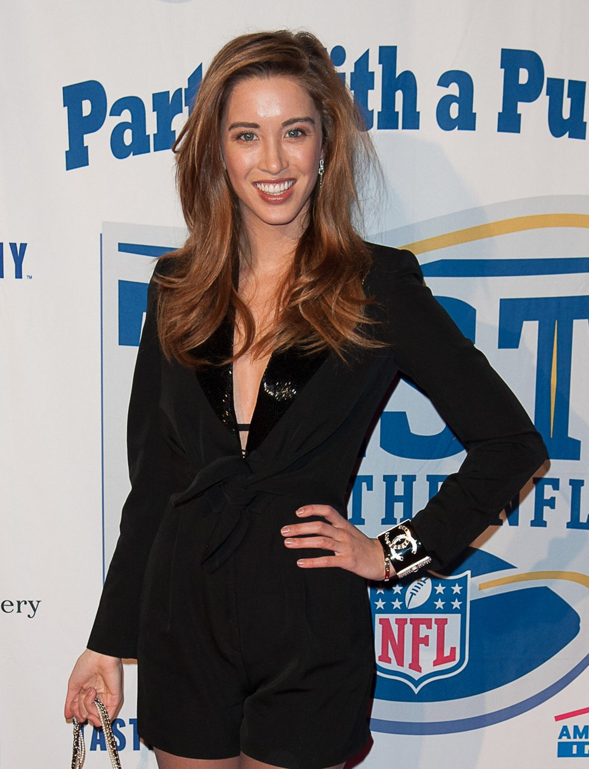MELISSA BOLONA at Super Bowl Party with a Purpose