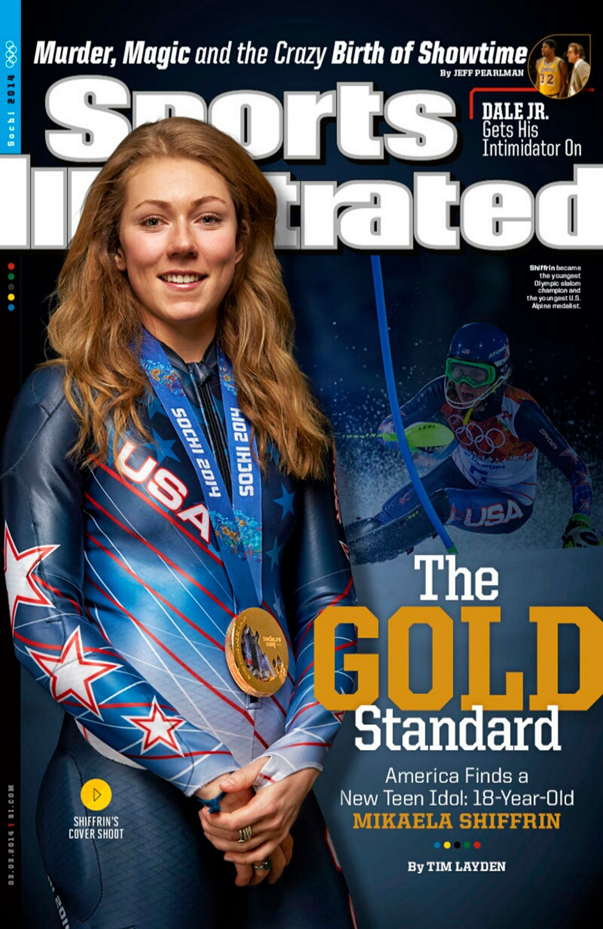 MIKAELA SHIFFRIN on the Cover of Sports Illustrated Magazine, March 2014 Issue