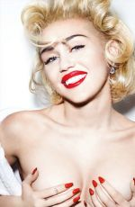 MILEY CYRUS in Vogue Magazine, Germany March 2014 Issue