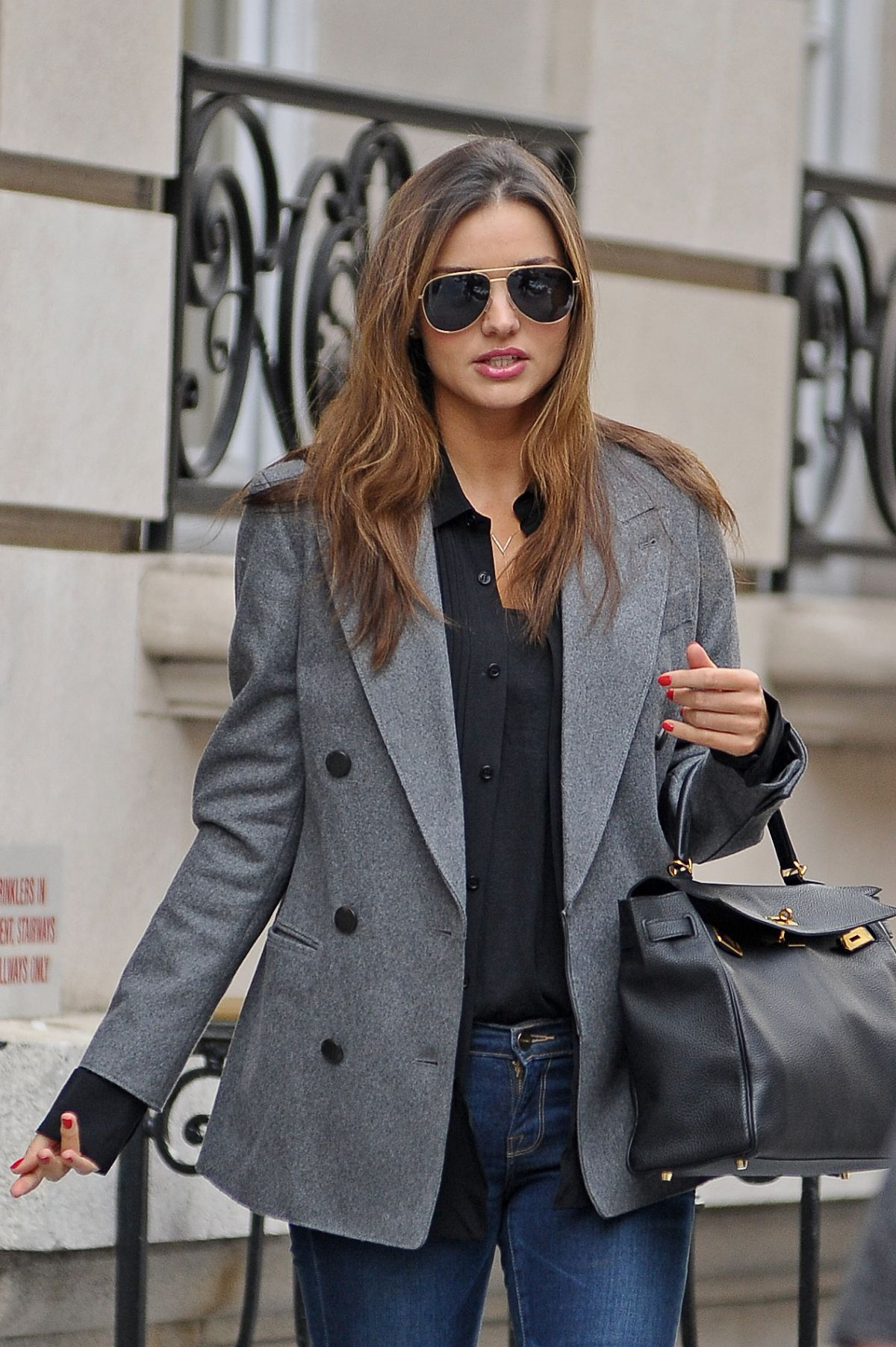 MIRANDA KERR Leaves Her Apartment on the Upper East Side in New York