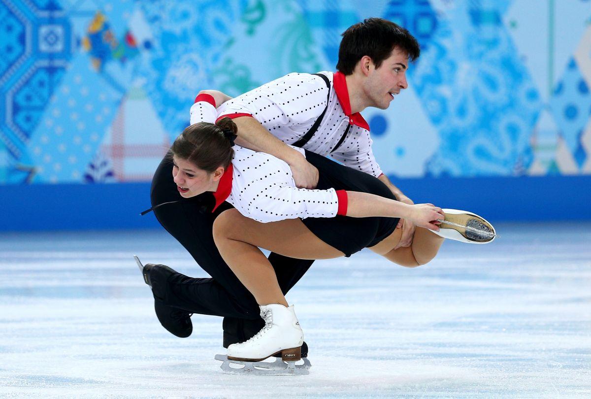 MIRIAM ZIEGLER and Severin Kiefer at 2014 Winter Olympics in Sochi
