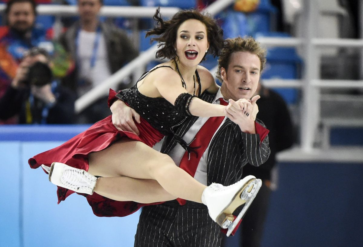 NATHALIE PECHALAT and Fabian Bourzat at 2014 Winter Olympics in Sochi