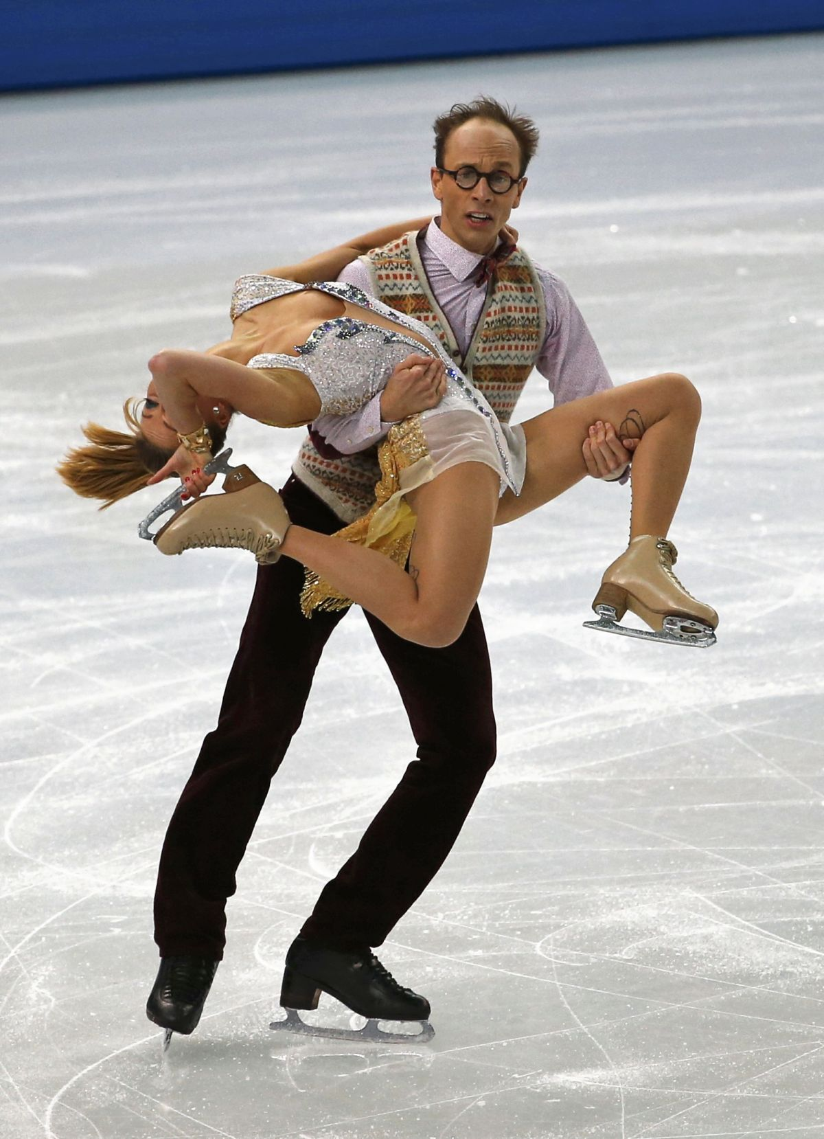 NELLI ZHIGANSHINA and Alexander Gazsi at 2014 Winter Olympics in Sochi