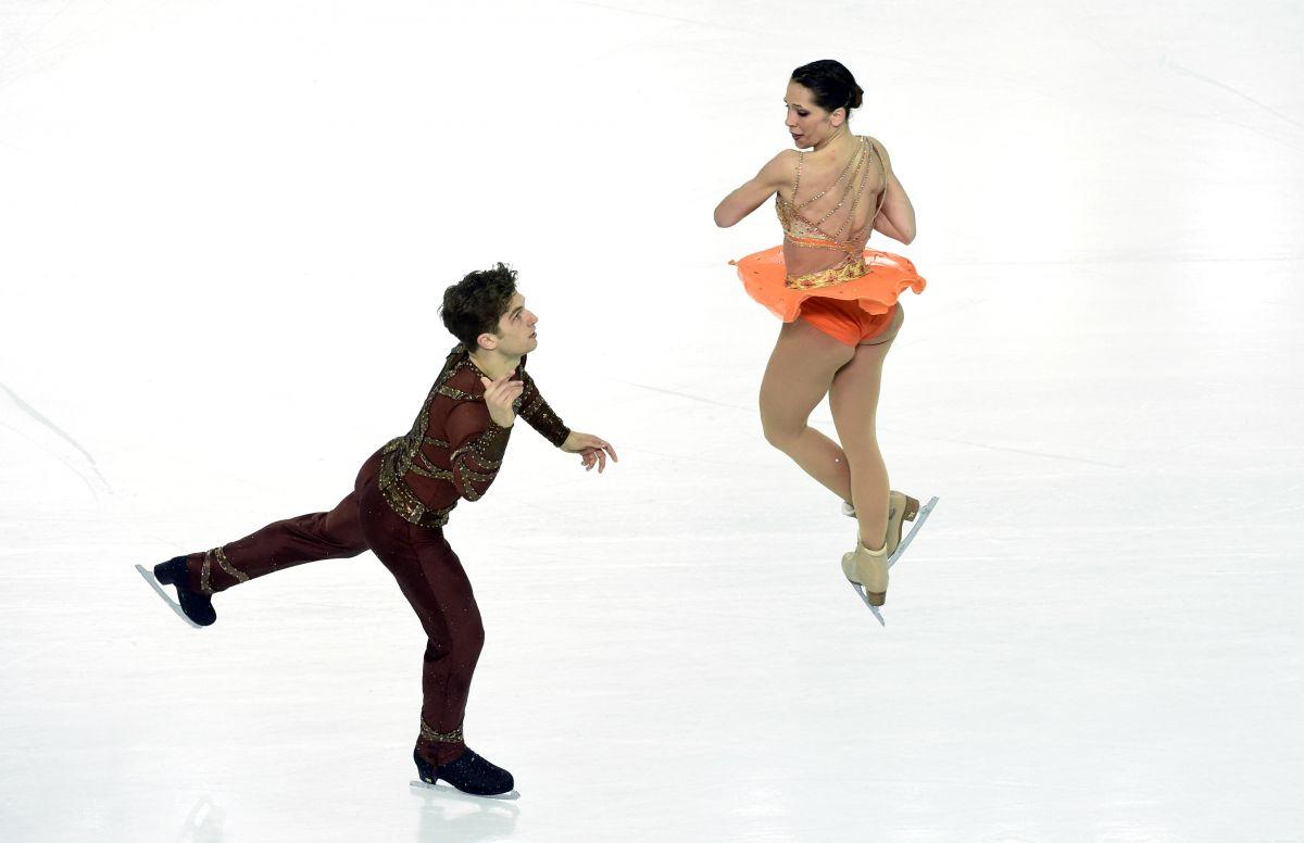 NICOLE DELLA MONICA and Matteo Guarise at 2014 Winter Olympics in Sochi