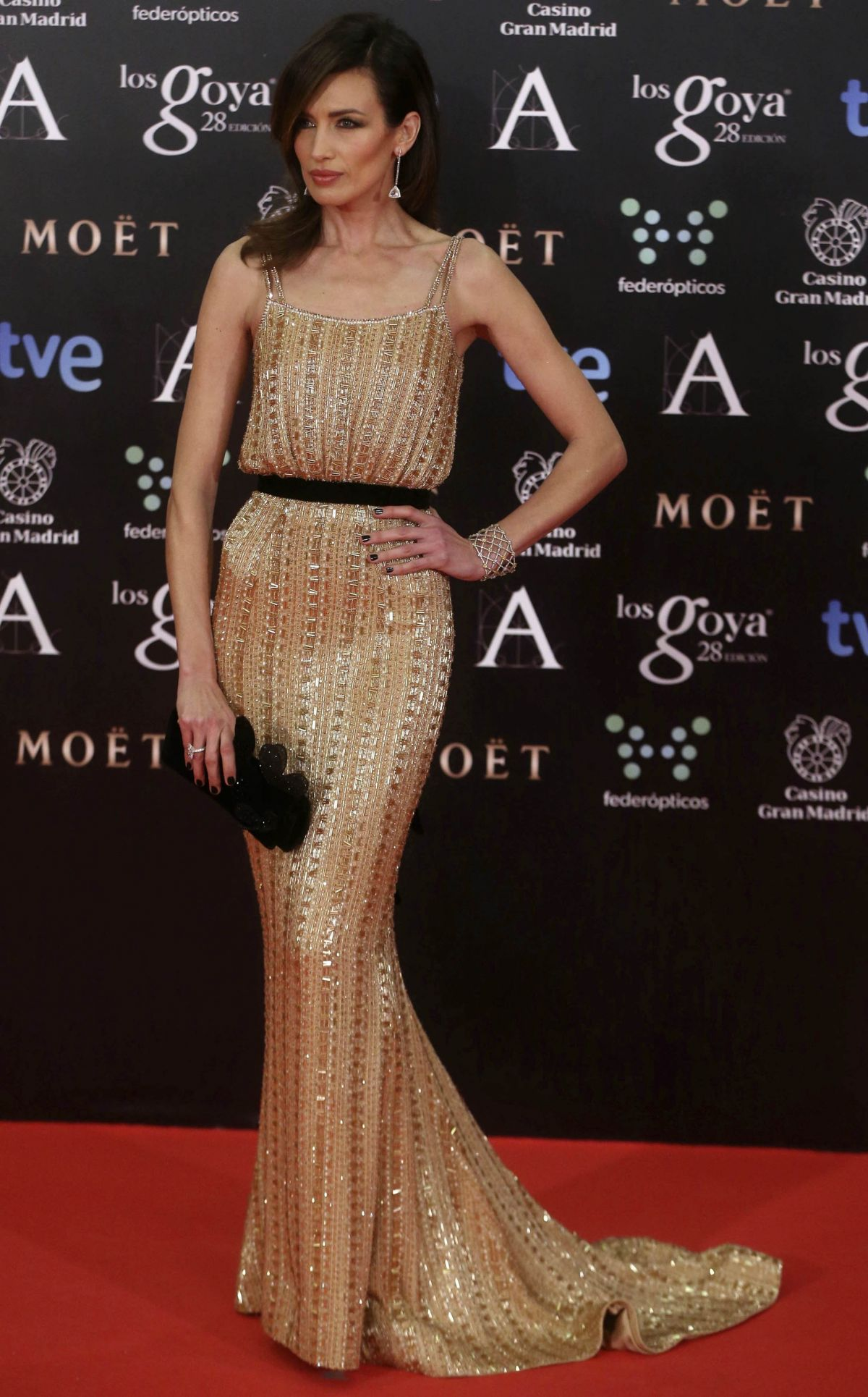 NIEVES ALVAREZ at 2014 Goya Film Awards in Madrid