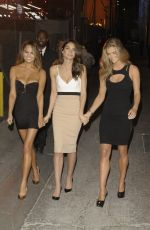 NINA AGDAL, LILY ALDRIDGE and CHRISSY TEIGEN Arrives at Jimmy Kimmel Live