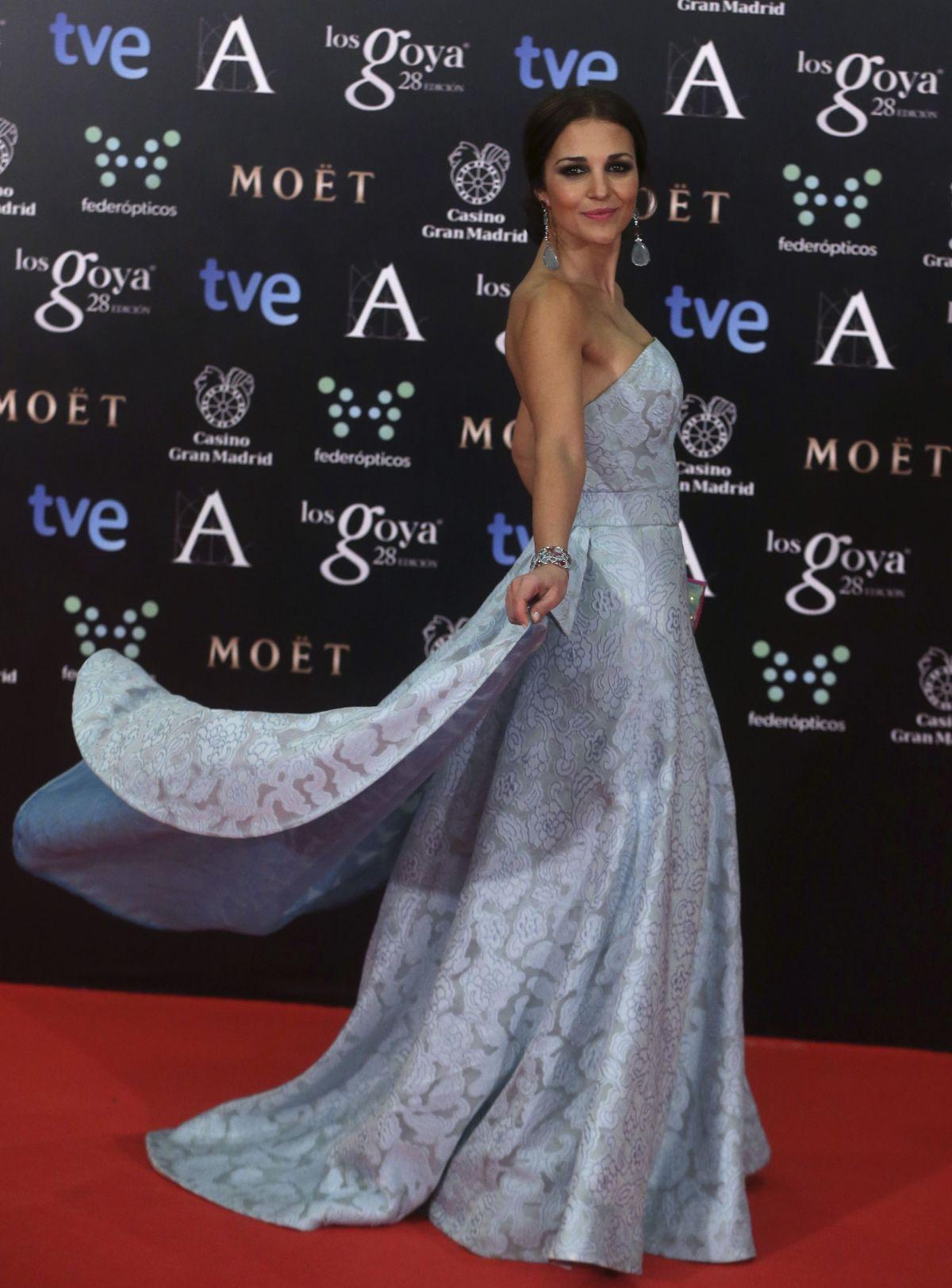 PAULA ECHEVARRIA at 2014 Goya Film Awards in Madrid