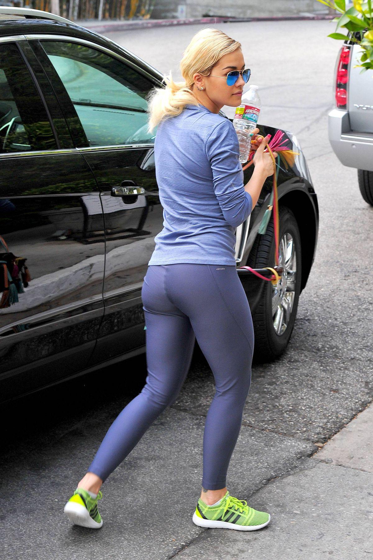 5ae320b5a5393 RITA ORA in Tight Spandex at a Gym in Los Angeles – HawtCelebs