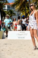 SAMANTHA HOOPES at SI Swimsuit Beach Volleyball Tournament in Miami