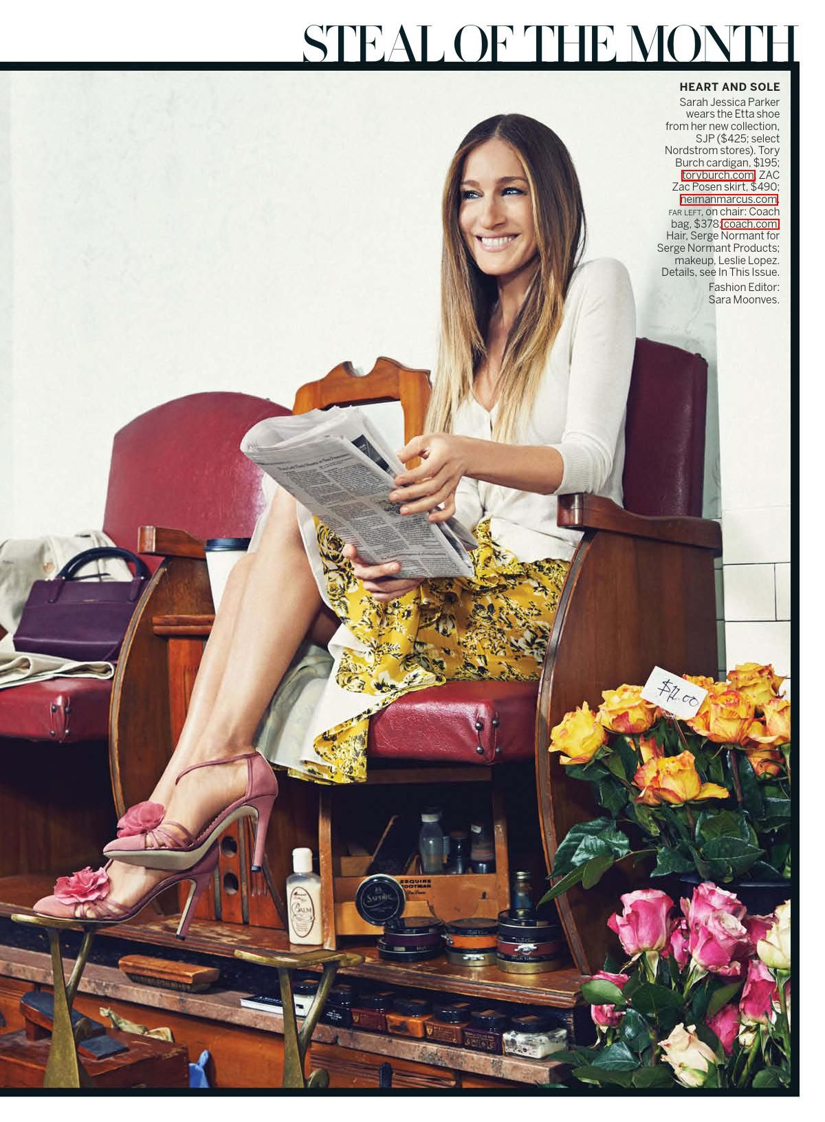 SARAH JESSICA PARKER in Vogue Magazine, March 2014 Issue