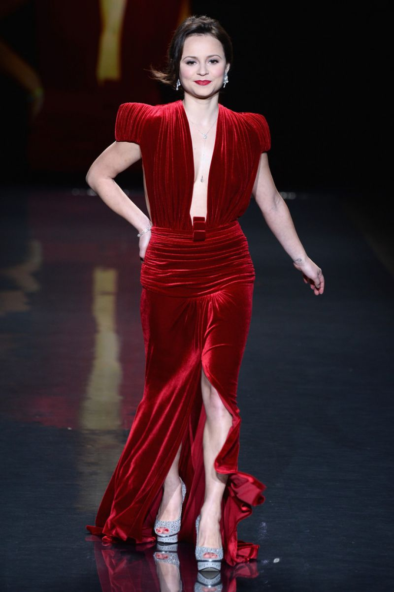 SASHA COHEN at Go Red for Women, The Heart Truth Fashion Show in New York
