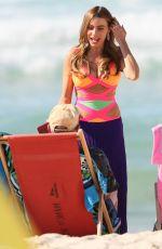 SOFIA VERGARA on the Set of Modern Family at a Beach in Sydney