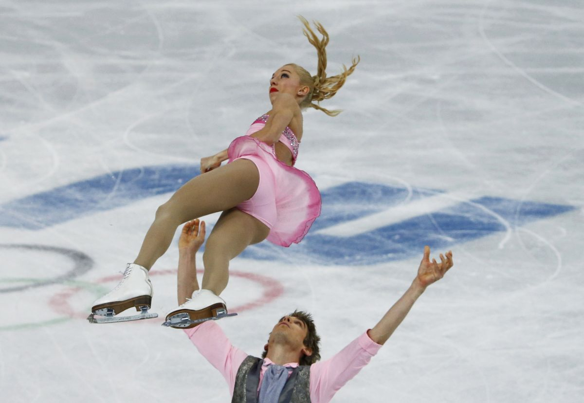 STACEY KEMP and David King at 2014 Winter Olympics in Sochi