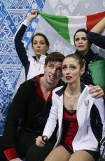 STEFANIA BERTON and Ondrej Hotarek at 2014 Winter Olympics in Sochi