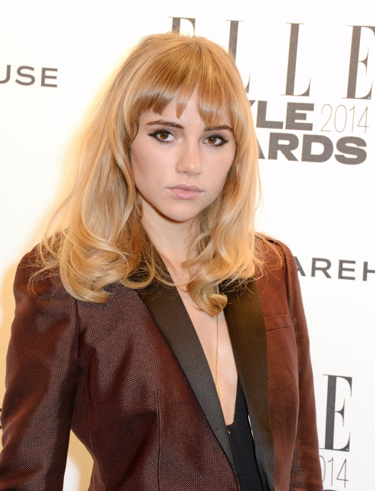 SUKI WATERHOUSE at 2014 Elle Style Awards in London