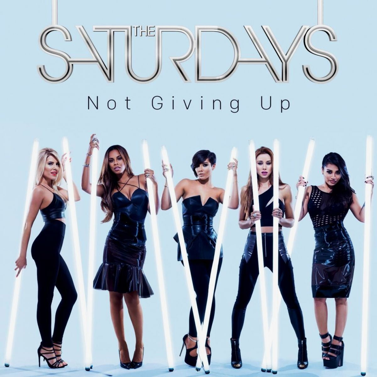 THE SATURDAYS Not Giving Up Album Cover