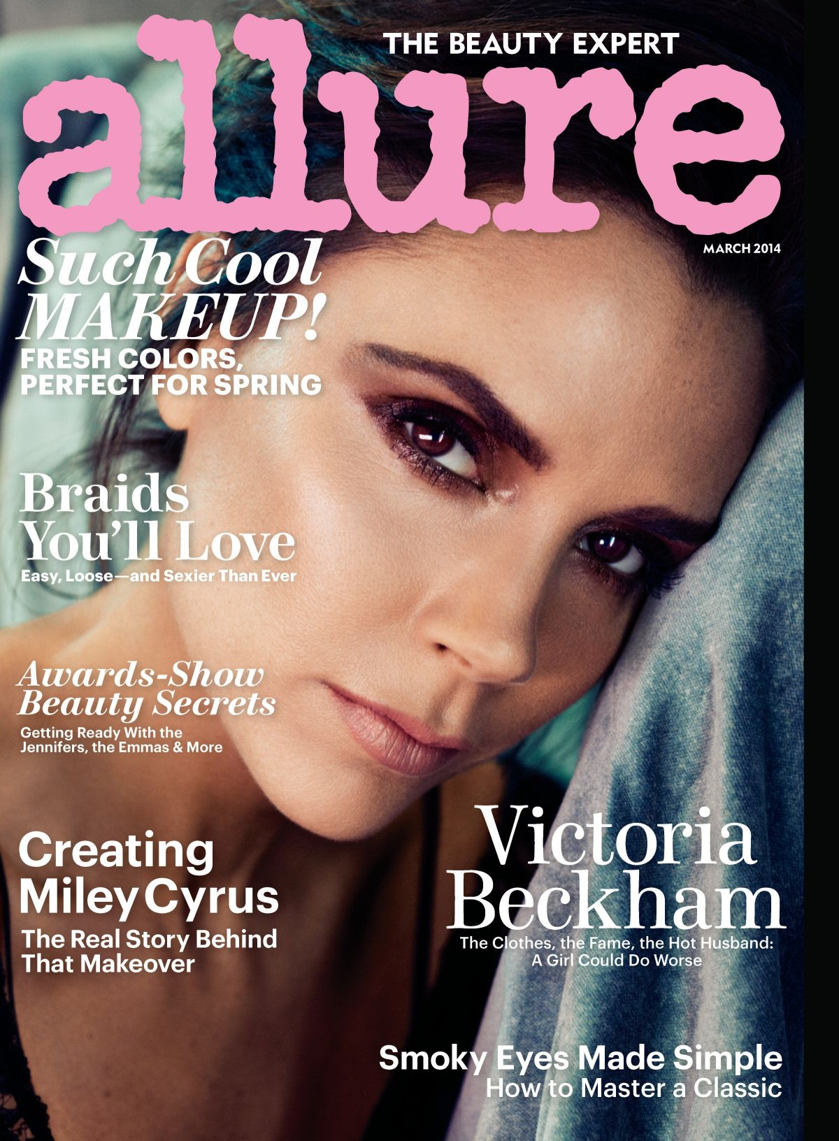 VICTORIA BECKHAM on the Cover of Allure Magazine, March 2014 Issue