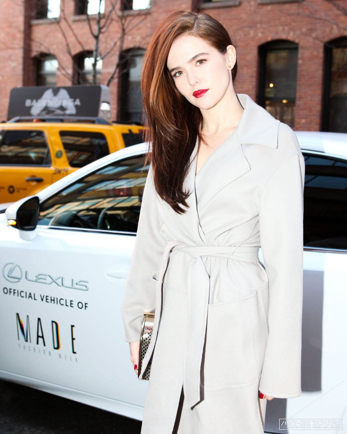 ZOEY DEUTCH Arrives at Milk Studios During New York Fashion Week