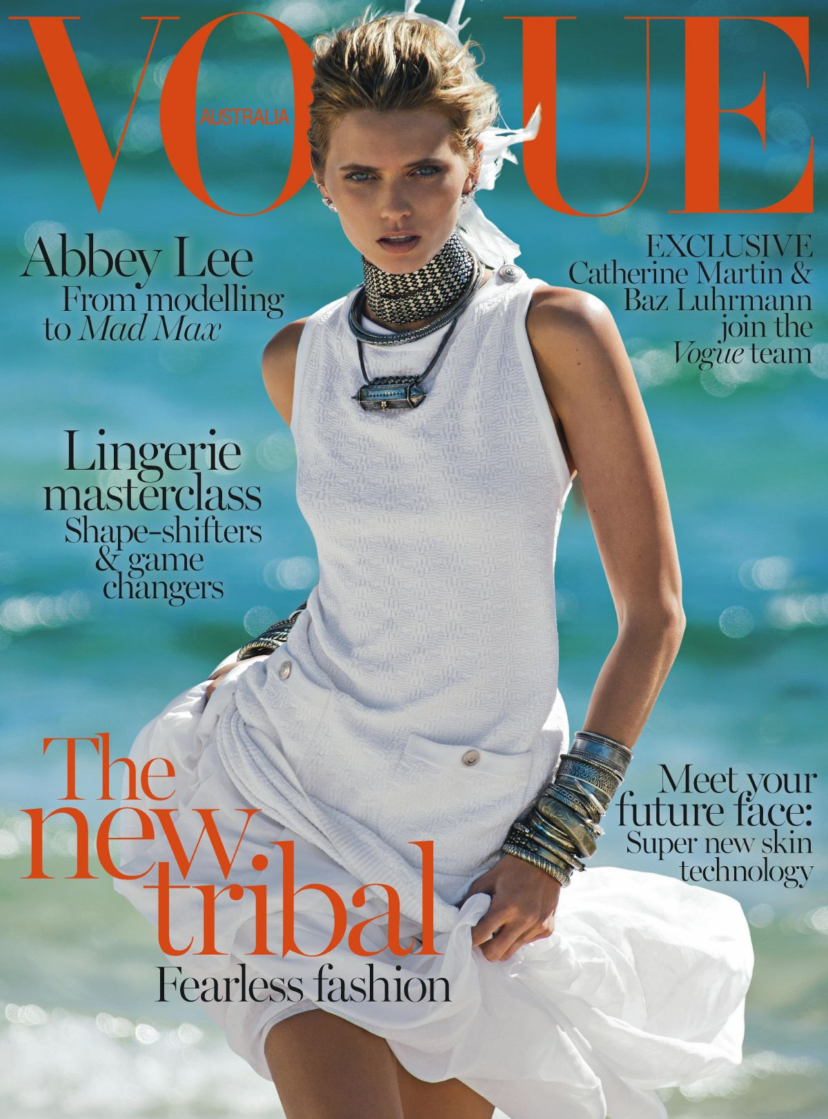ABBEY LEE KERSHAW on the Cover of Vogue Magazine, Australia April 2014 Issue
