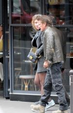 ADELE EXARCHOPOULOS and Saen Penn Out and About in Paris