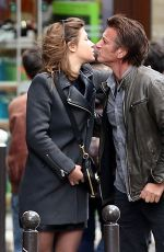 ADELE EXARCHOPOULOS Kisses Saen Penn Out in Paris