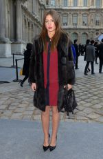 ADELE EXARCOPOULOS at Louis Vuitton Fashion Show in Paris