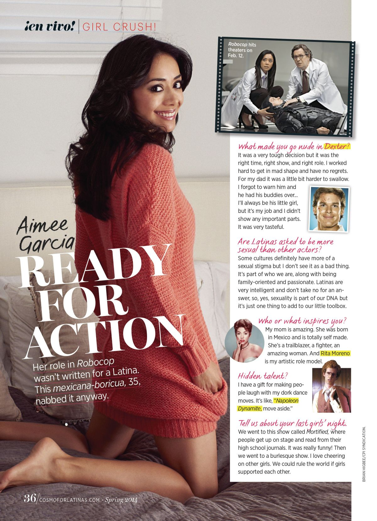 AIMEE GARCIA in Cosmopolitan for Latinas Magazine, Spring 2014 Issue