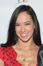 AJ LEE at Scooby Doo! Wrestlemania Mystery Premiere in New York