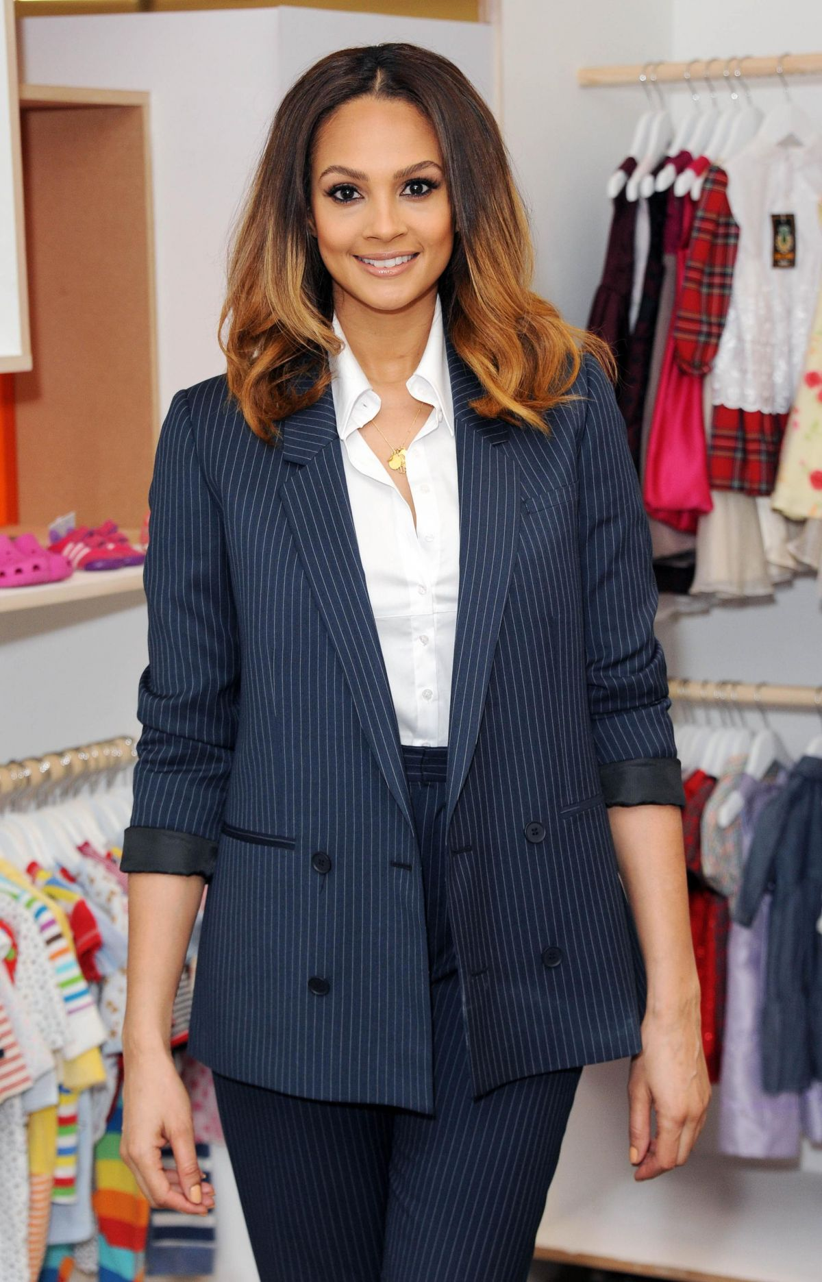 ALESHA DIXON at Marks & Spencer Kids Shwop Boutique Photocall in London