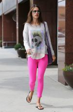 ALESSANDRA AMBROSIO at a Gym Class in Los Angeles