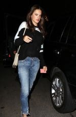 ALESSANDRA AMBROSIO at Chateau Marmont in West Hollywood