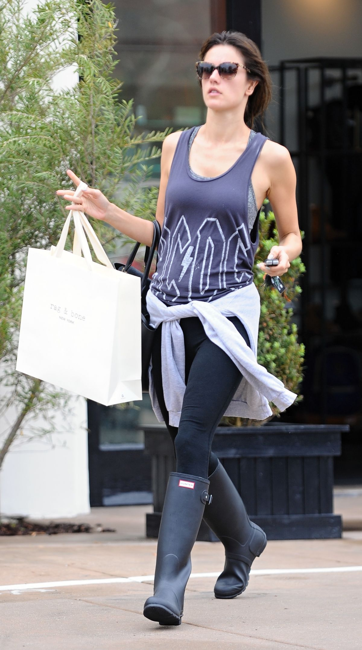 ALESSANDRA AMBROSIO in Tank Top at Soulcycle in Los Angeles