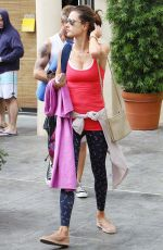 ALESSANDRA AMBROSIO Leaves Yoga Class in Brentwood