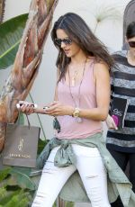 ALESSANDRA AMBROSIO Out in Shopping in Beverly Hills