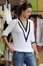 ALESSANDRA AMBROSIO Shopping at Blue Planet Store in Santa Monica