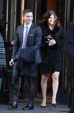 ALEXANDRA DADDARIO and Logan Leman Out and About in Soho