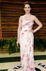 ALISON BRIE at Vanity Fair Oscar Party in Hollywood