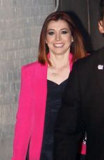 ALYSON HANNIGAN Arrives at Jimmy Kimmel Live! in Los Angeles