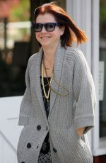 ALYSON HANNIGAN Leaves Brentwood Country Mart in Los Angeles