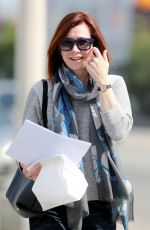 ALYSON HANNIGAN with New Hairstyle Out in Los Angeles