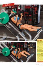 AMANDA LATONA in Oxygen Magazine, April 2014 Issue